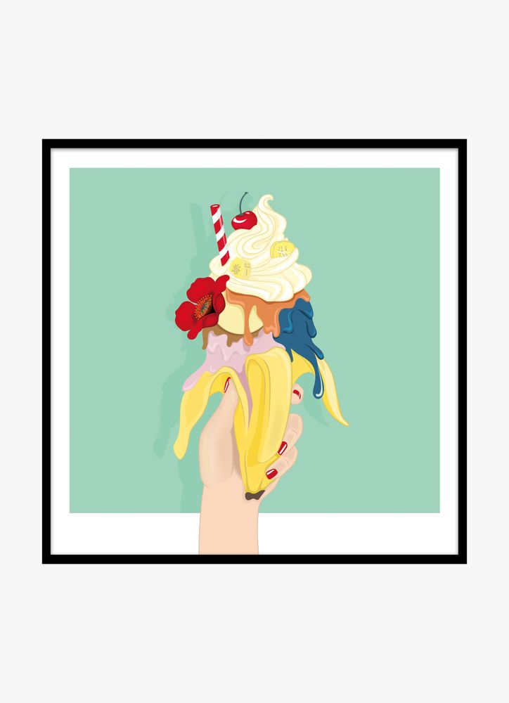 Retro banana split poster
