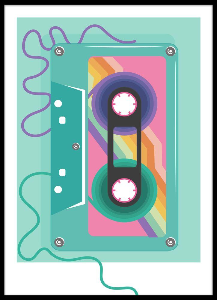Retro kassettband poster