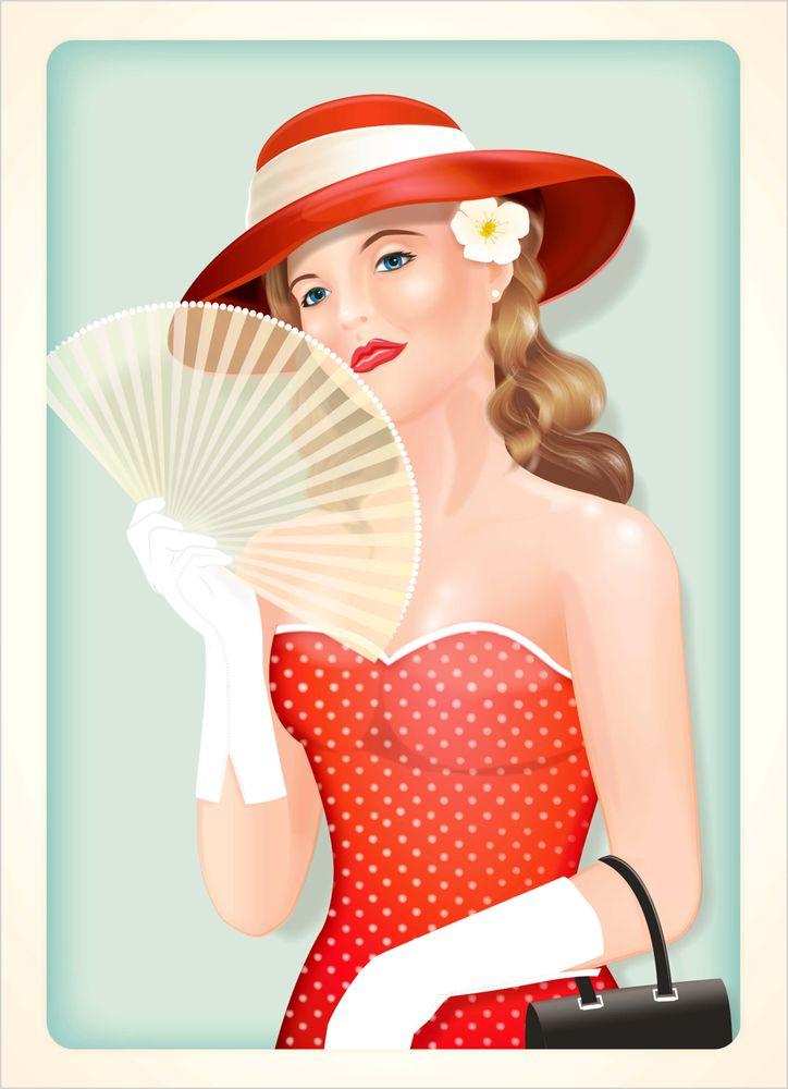 Retro lady poster