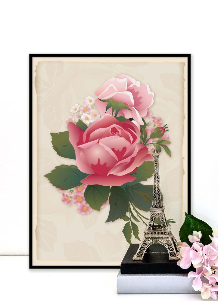 Retro rosor poster