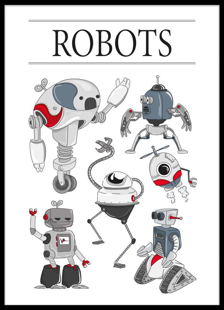 Rolig robot poster