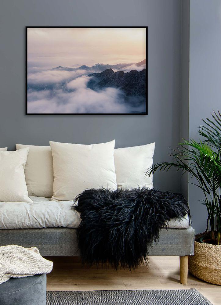 Berg och moln poster