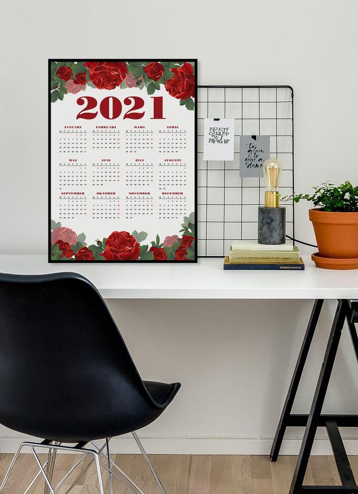 Rosor kalender poster