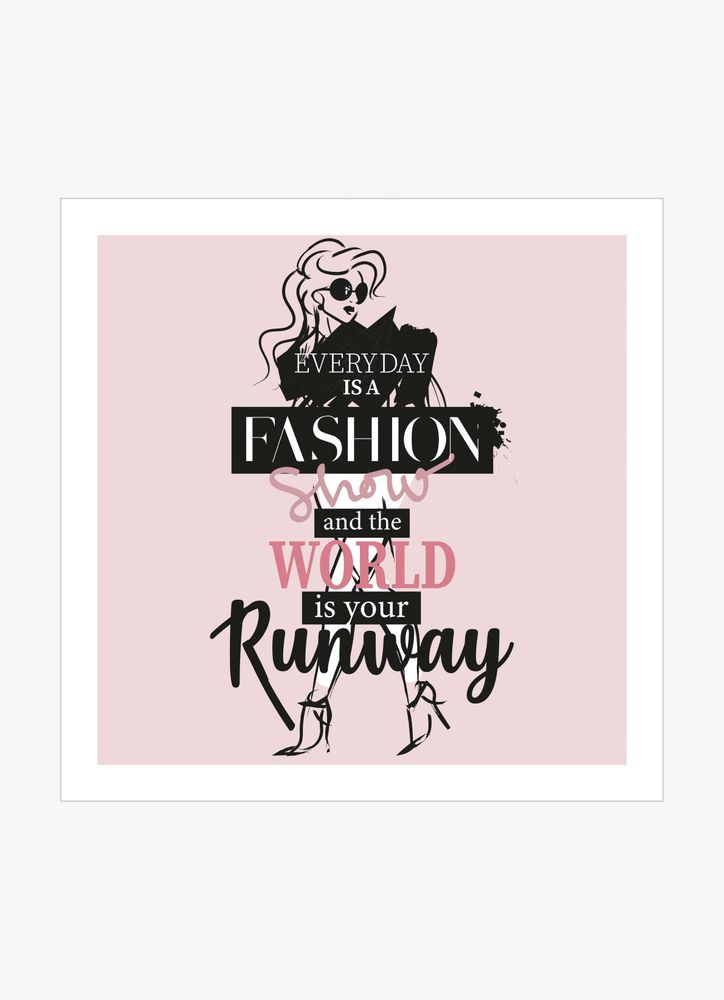 Runway girl text poster