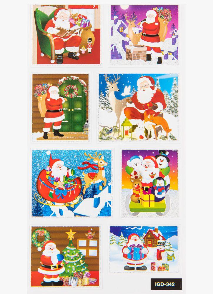 Klistermärken Jultomtar