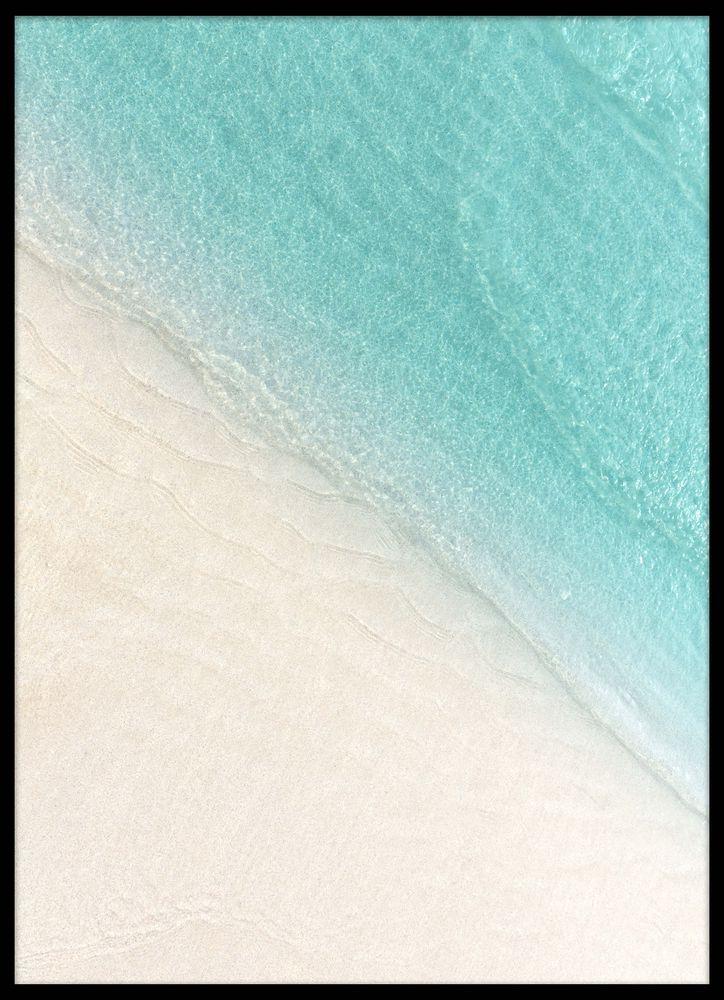 Hav och strand närbild poster