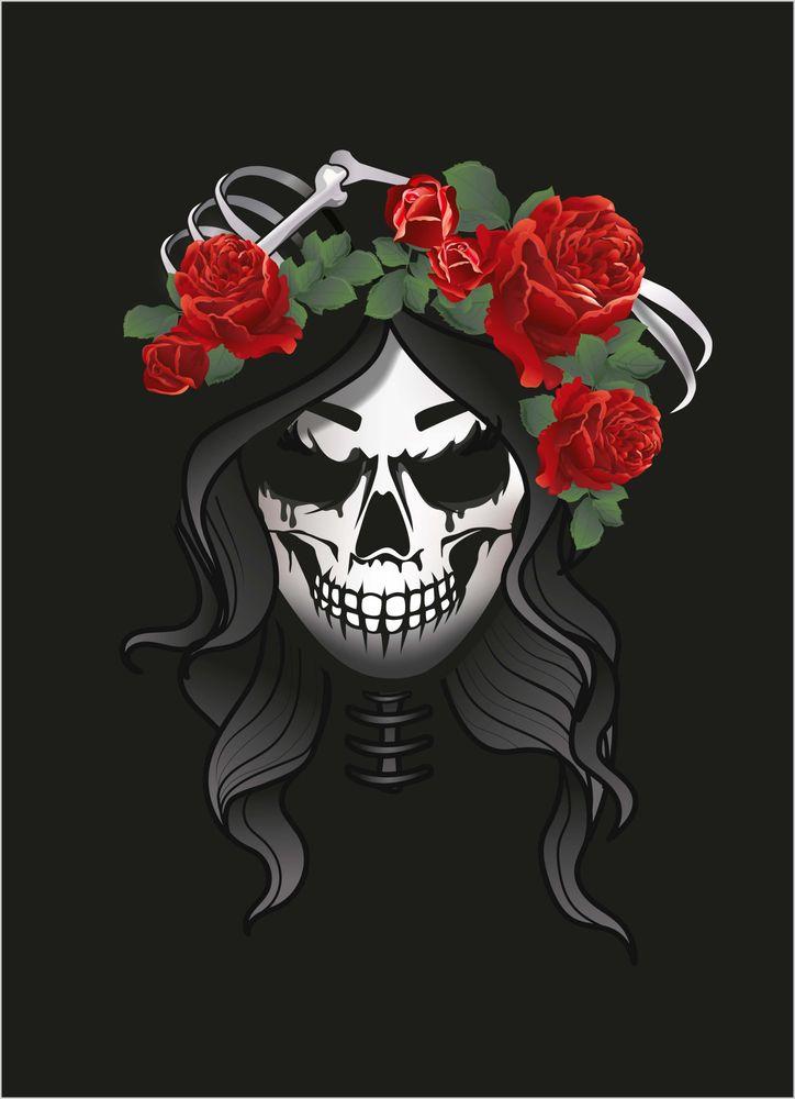 Döskalle rosor poster