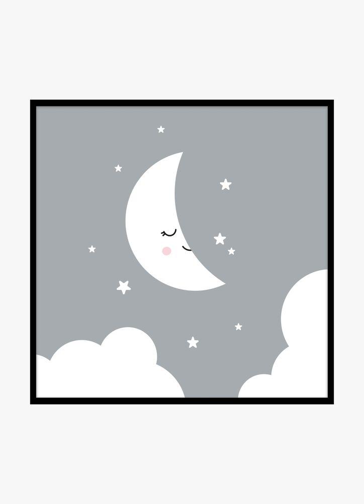 Glad måne poster