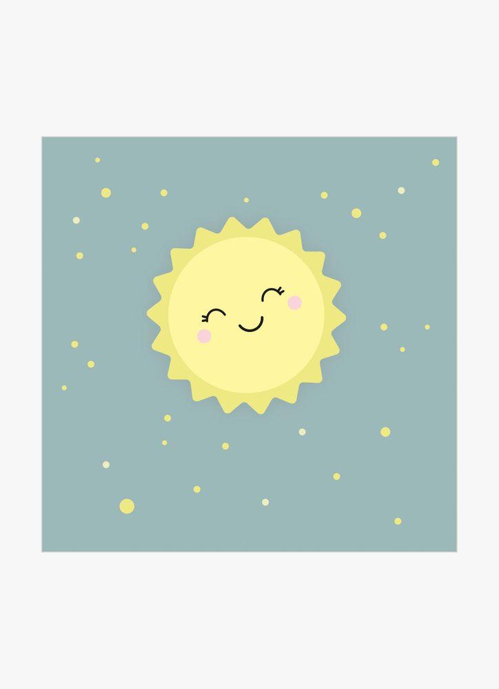 Glad sol poster