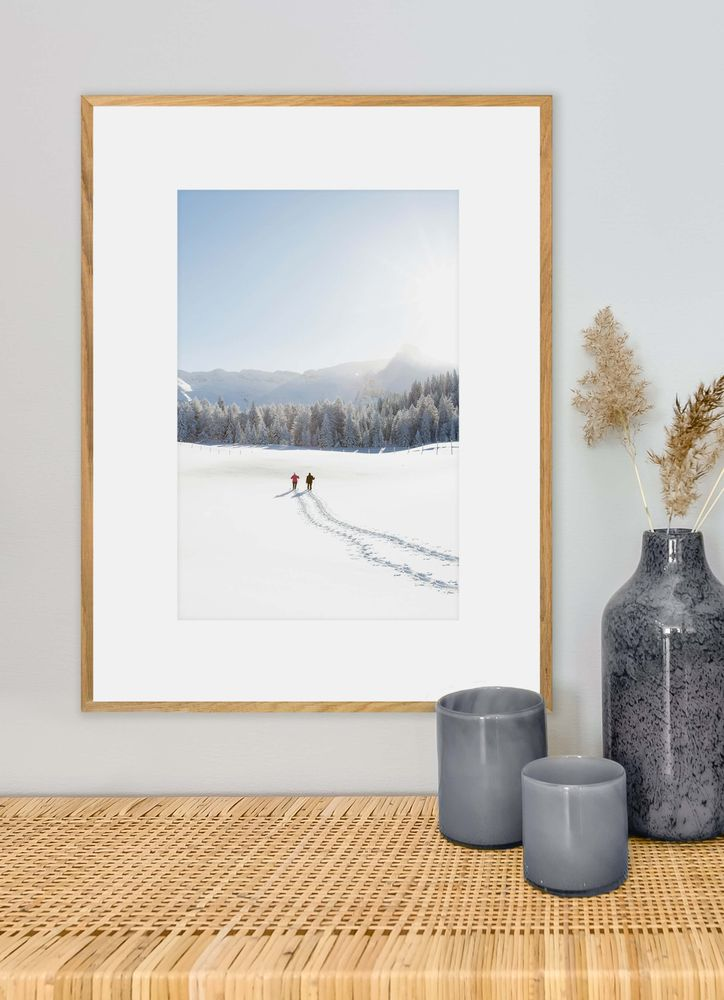 Snow tracks poster