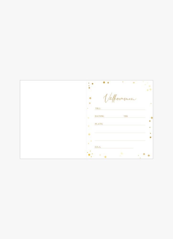 Guldkonfetti inbjudningskort