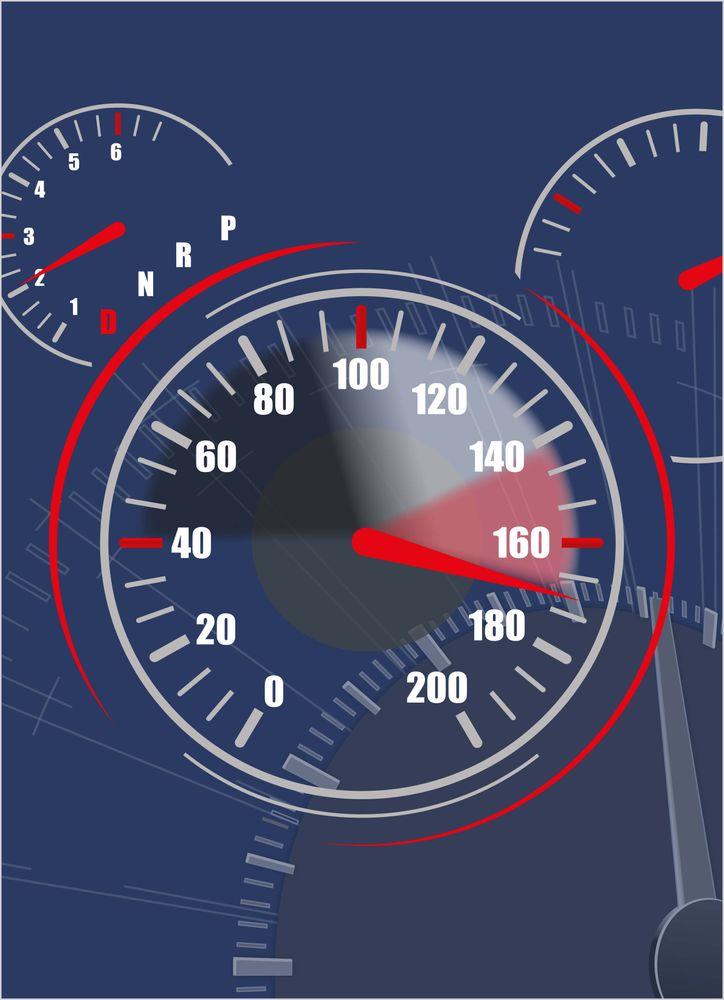 Hastighetsmätare poster