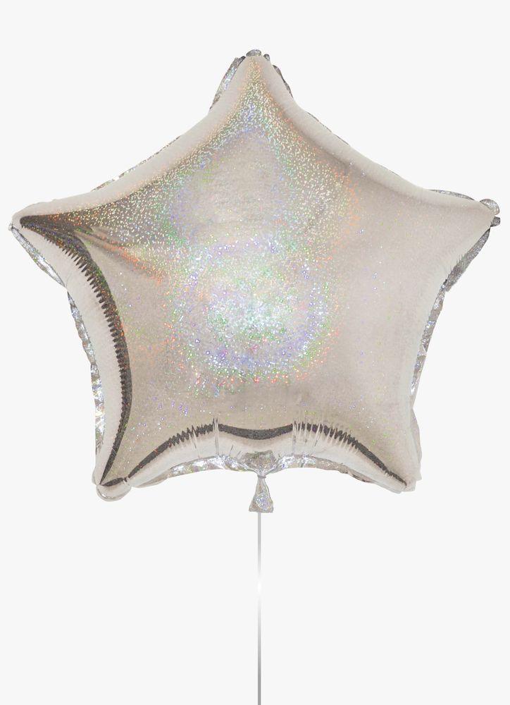Stjärnballong i silver folie