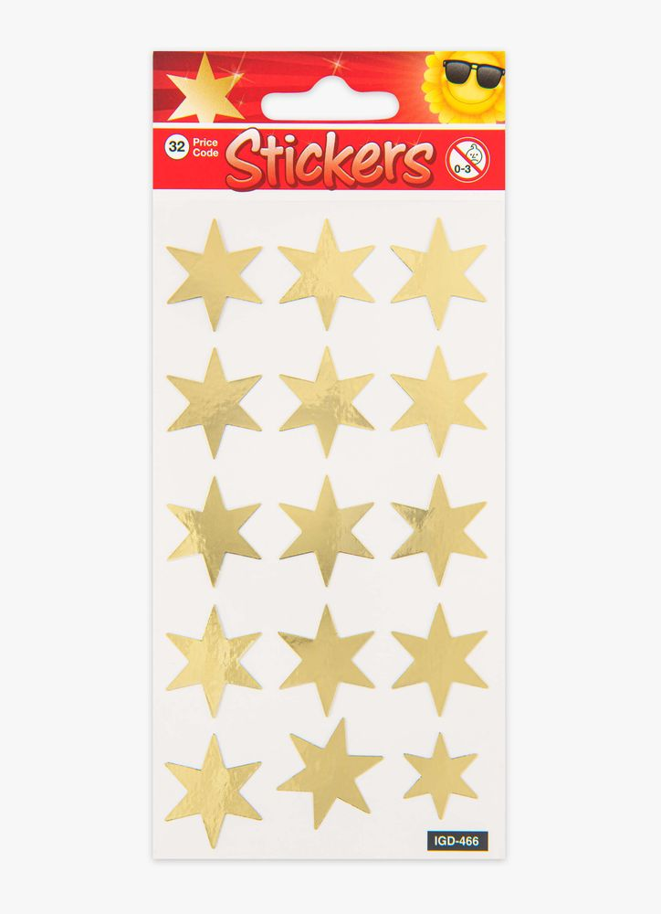Klistermärken stjärnor Guld