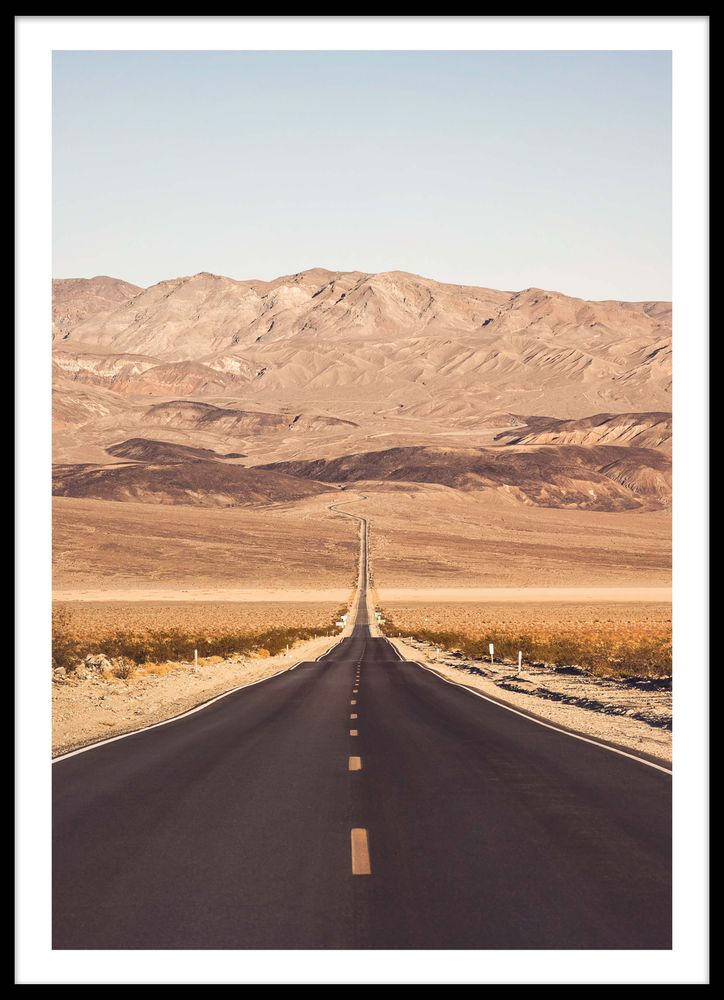 Straight road poster