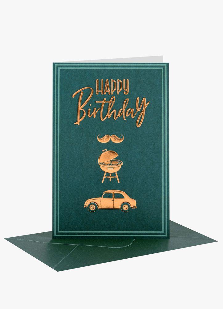 Happy Birthday illustrationer kort