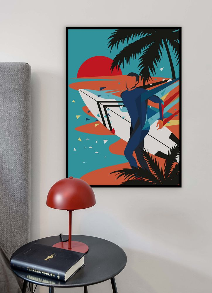 Surfing poster