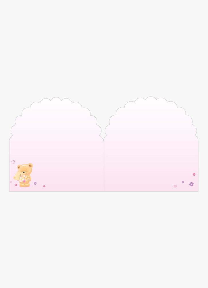 Teddybjörn baby rosa