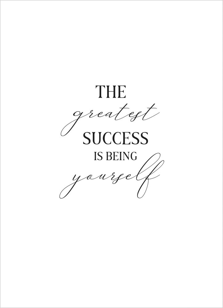 The greatest success poster