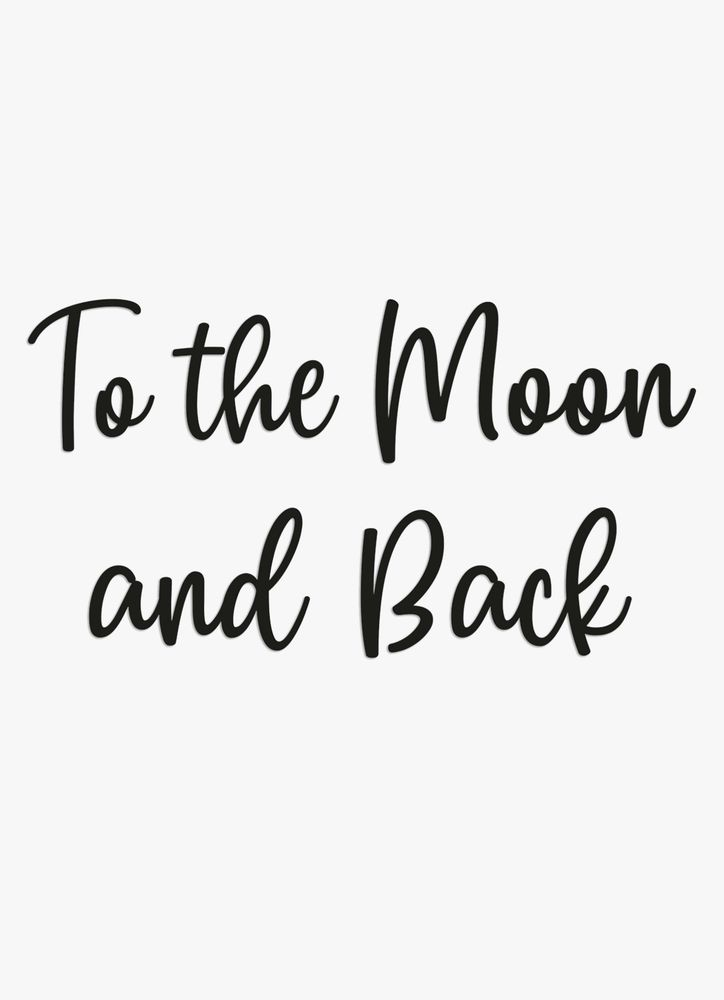 To the moon väggdekor