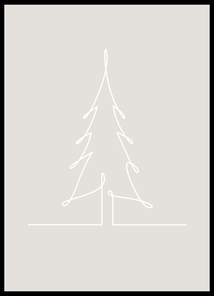 Träd skiss poster