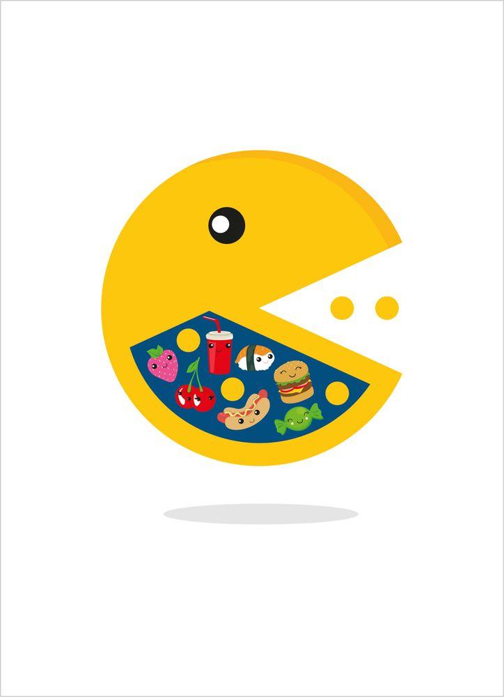 Ätande TV-spelsikon poster
