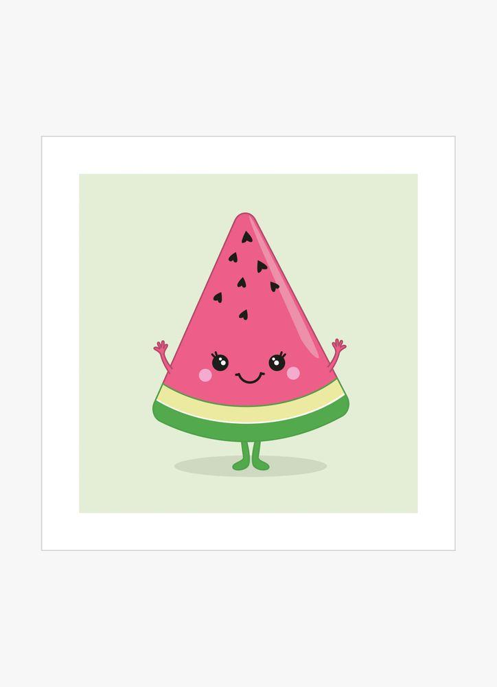 Glad vattenmelon poster