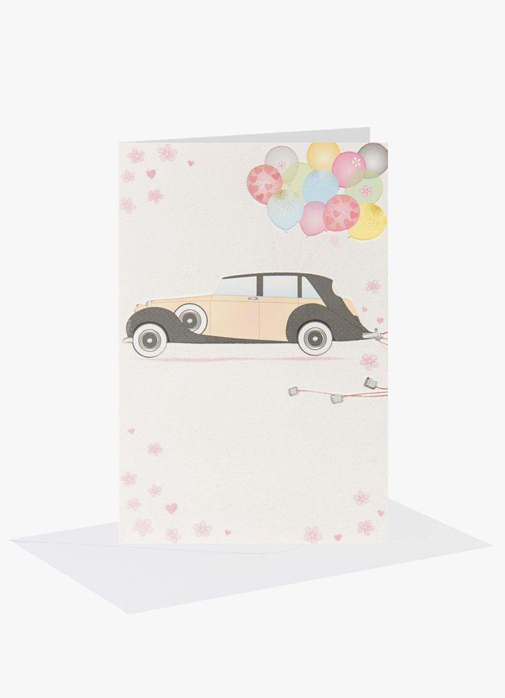 Bröllop bil gratulationskort