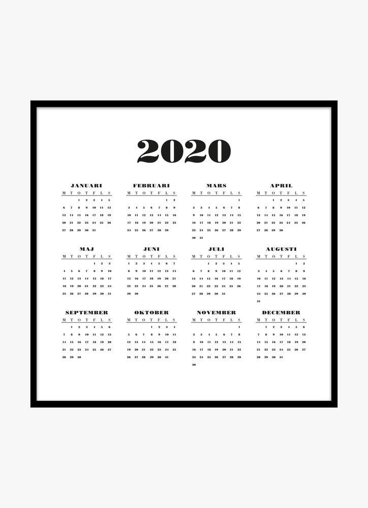 Vit kalender poster