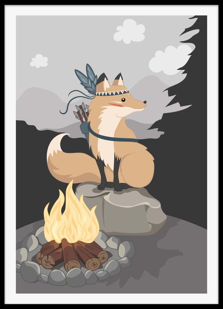 Wilderness fox poster