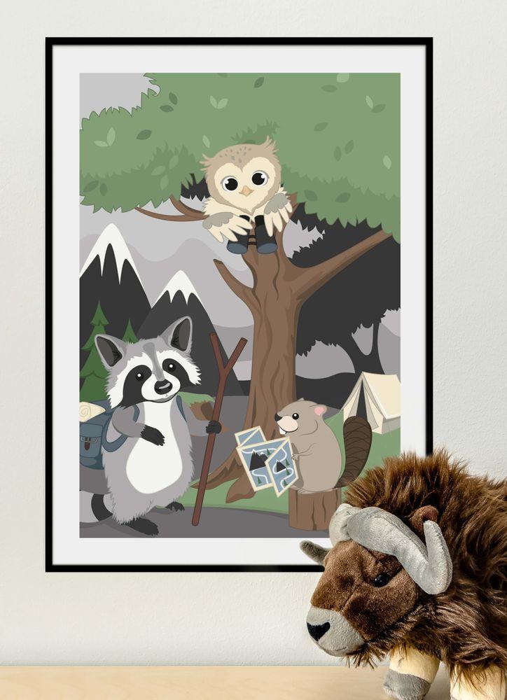 Tvättbjörn med vänner poster