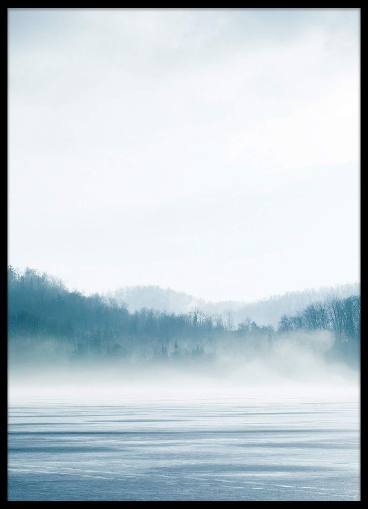 Vinter sjö poster