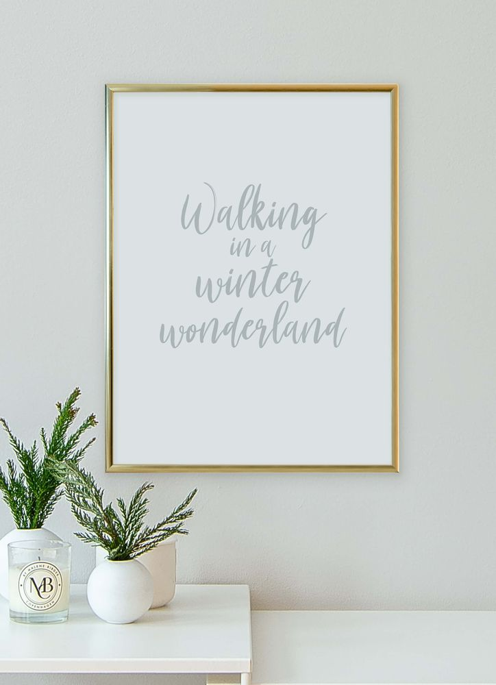 Winter wonderland text poster