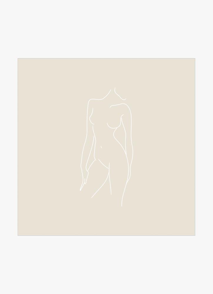 Kvinna kropp beige