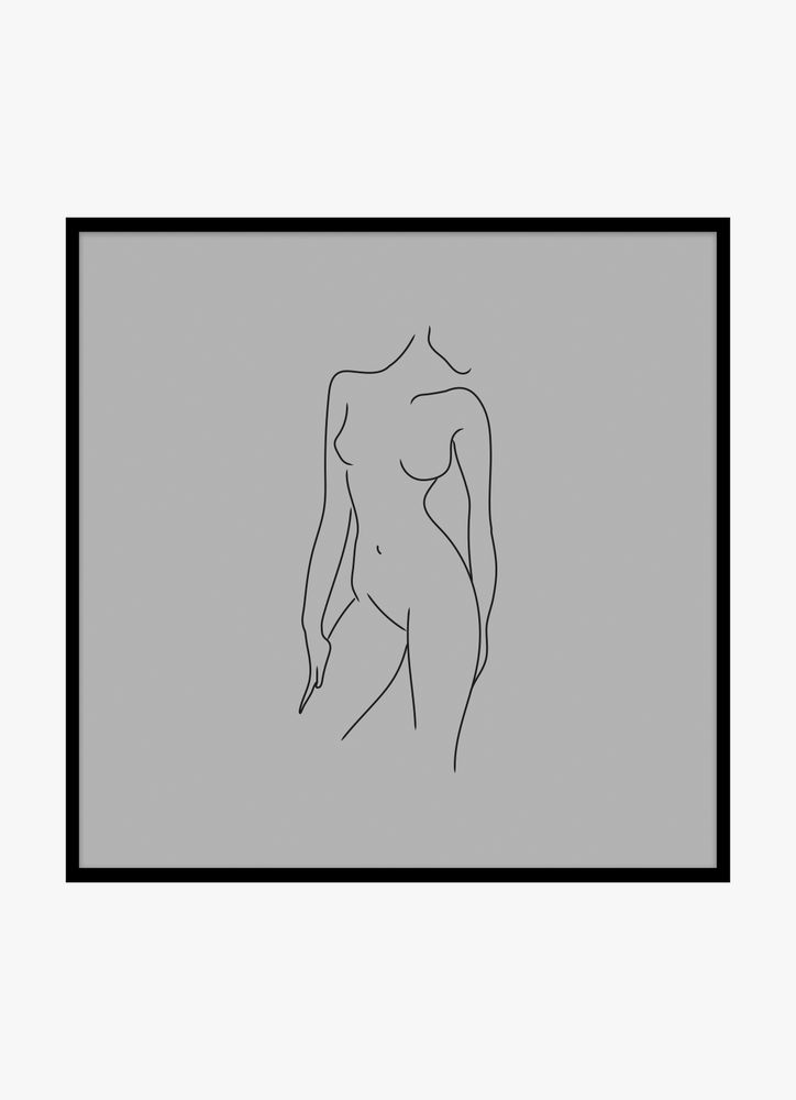 Kvinna kropp grå