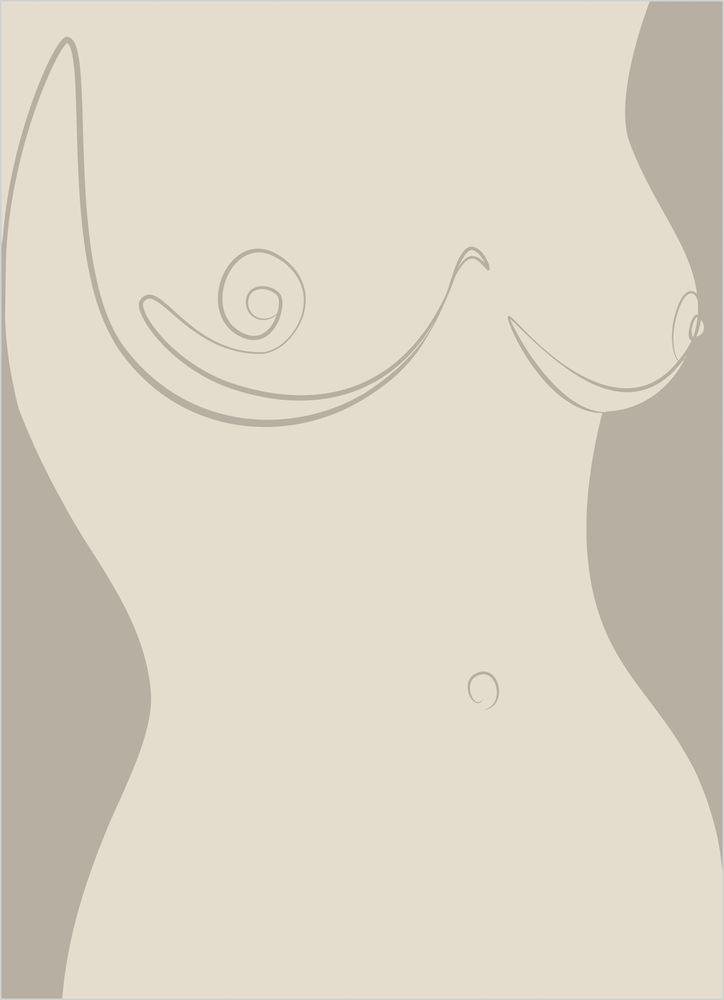 Kvinna bröst skiss poster