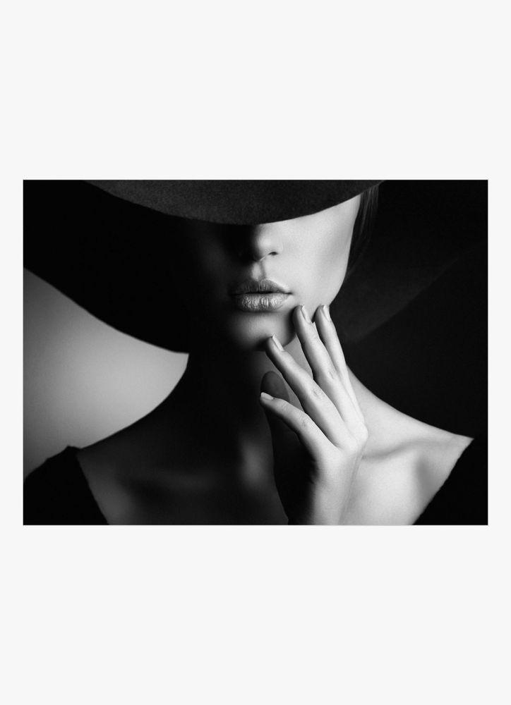 Kvinna i hatt poster