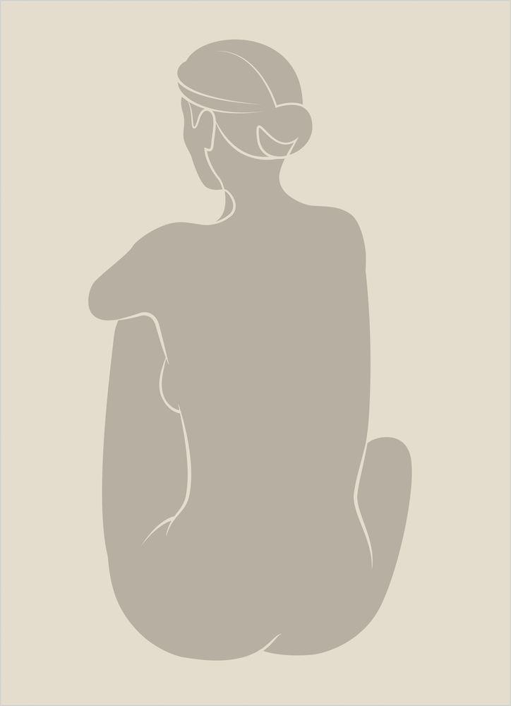 Sittande kvinna poster