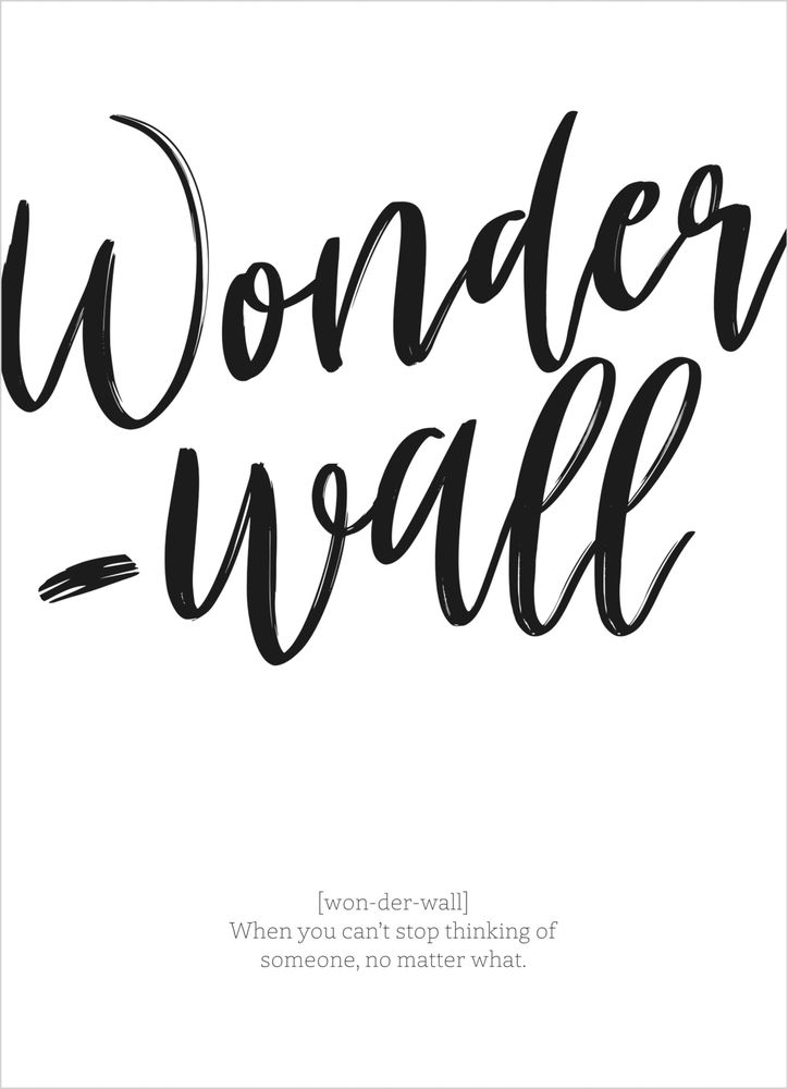 Wonderwall text poster