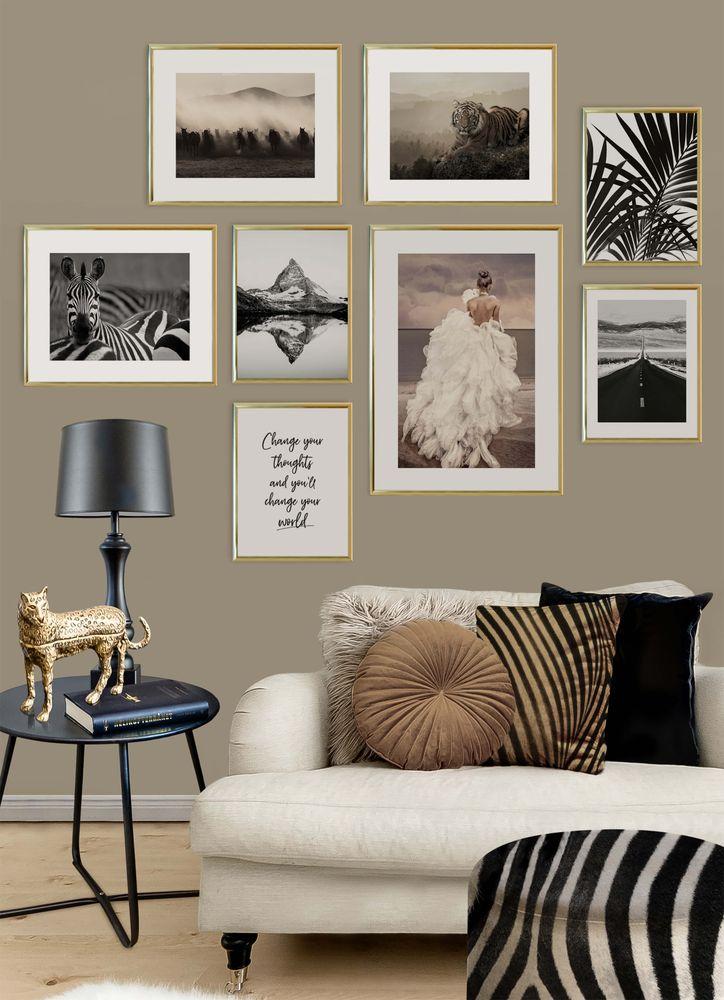 Zebra i flock poster