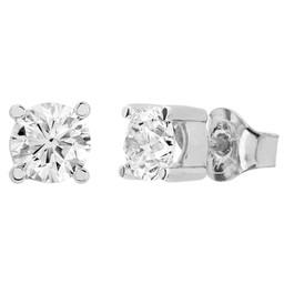Diamantörhängen i platina