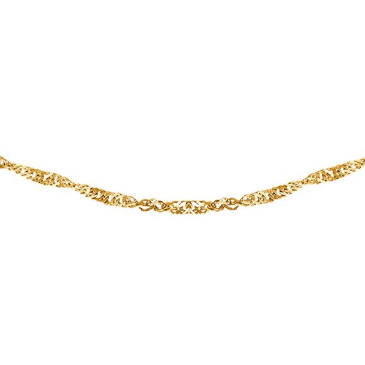 Kedja i 9K guld 38 cm