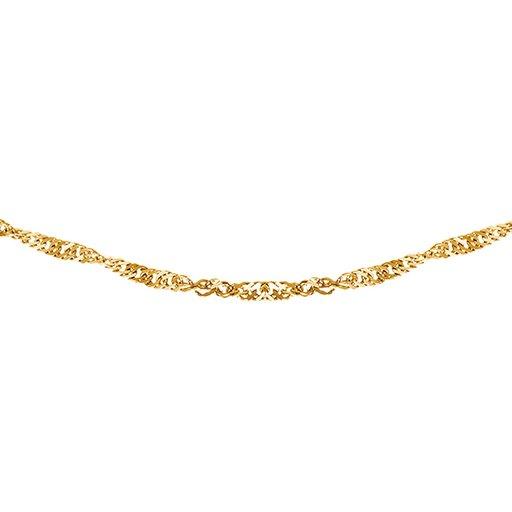 Kedja i 9K guld 42 cm