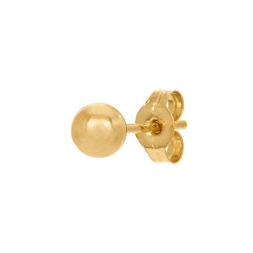 Örhänge styck i 18K guld 4 mm