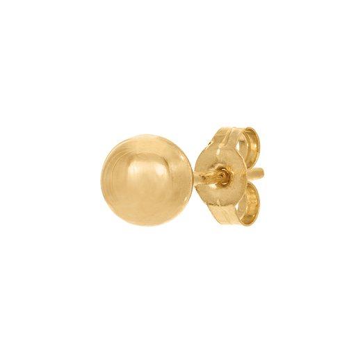 Örhänge styck i 18K guld 5 mm