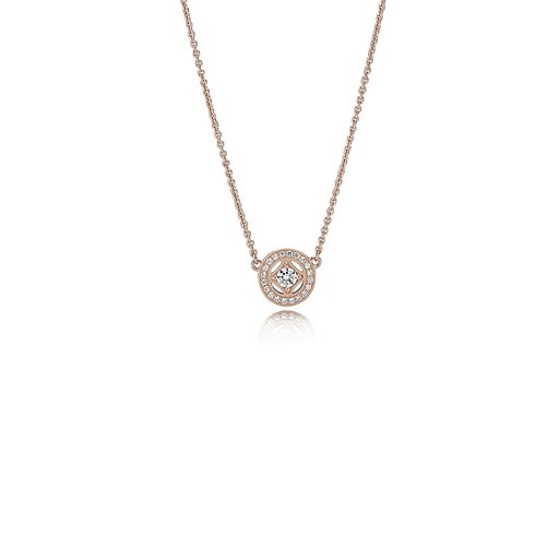 Halsband i roséförgyllt äkta silver