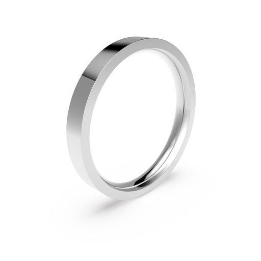 Förlovningsring i platina 3mm