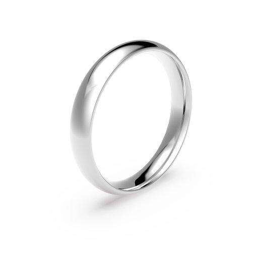 Förlovningsring i platina 4mm