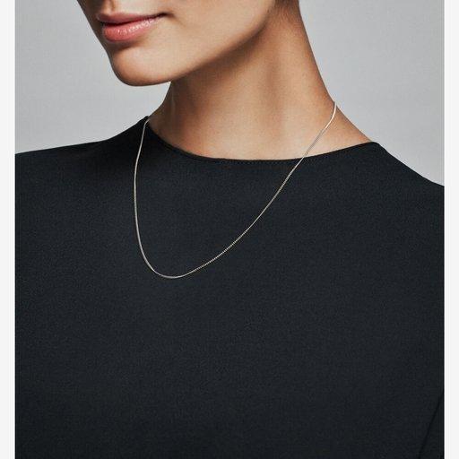 Halsband i äkta silver 60 cm