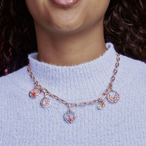 Halsband i rosé